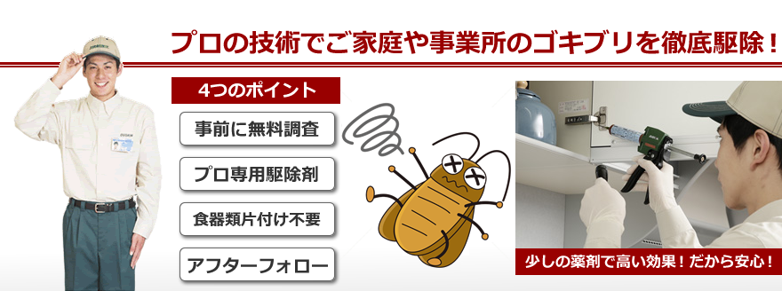 茅ヶ崎・藤沢 ダスキンのゴキブリ駆除サービス